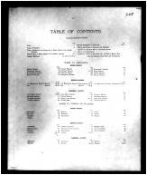 Table of Contents, Boone - Kenton - Campbell Counties 1883